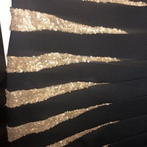 bebe Dresses - Black and gold sequin cocktail dress